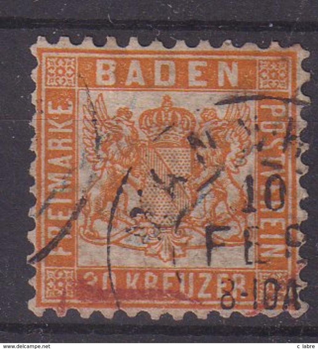 BADE : N° 21 . OBL . AB . 1862/64 .  ( CATALOGUE YVERT ) . - Bade