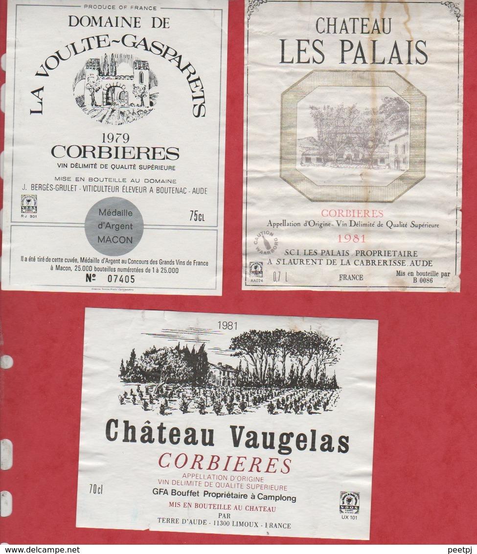 Etiquette De Vin - 1979 -1981- FRANCE - CORBIERES- LOT 3 Pc - Etiquettes