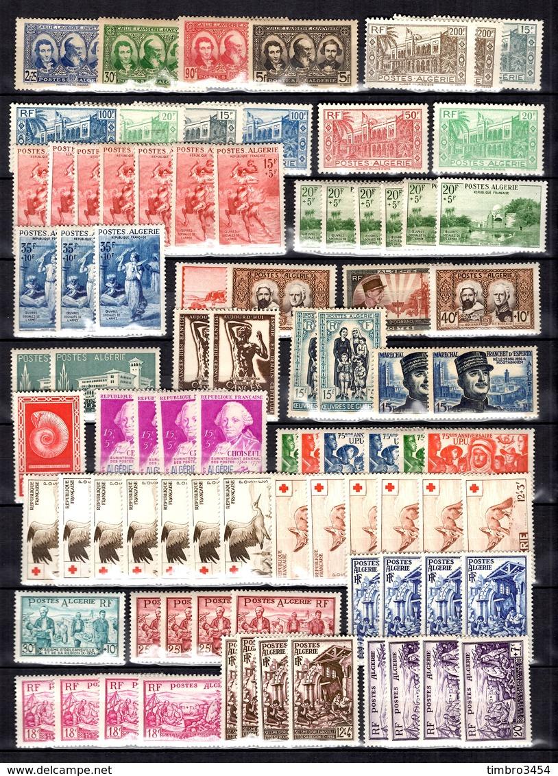 Algérie Belle Collection Neufs **/* 1939/1957. Bonnes Valeurs. B/TB. A Saisir! - Algeria (1924-1962)