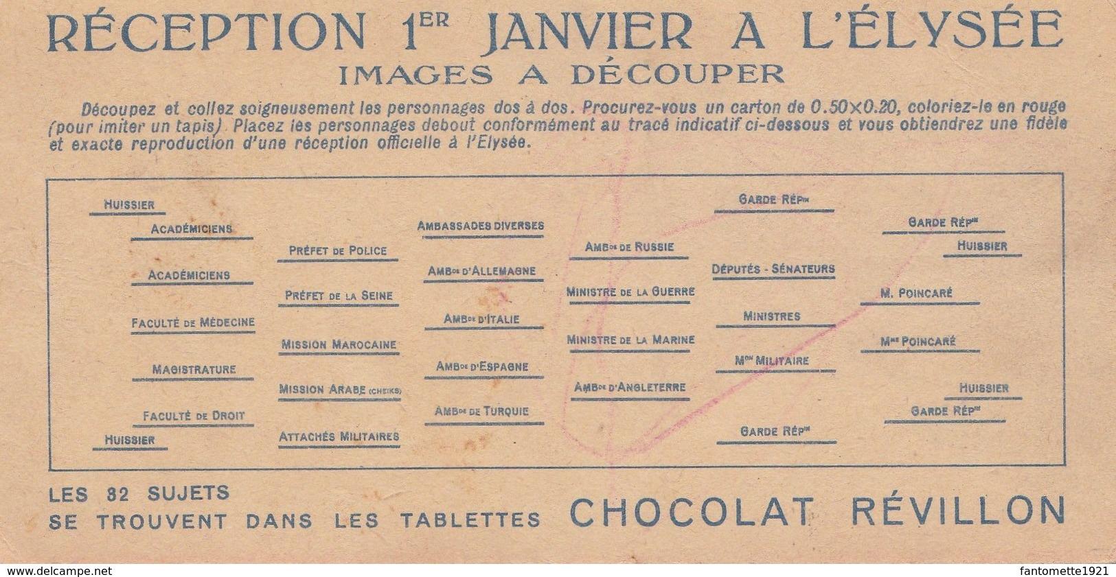 CPA DEMI-FORMAT/CHOCOLAT REVILLON/RECEPTION 1ER JANVIER A L'ELYSEE (dil442) - Mechanical