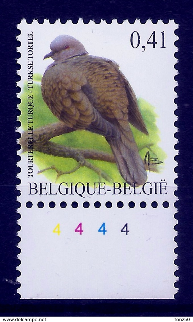 BELGIE * Buzin * Nr 3135  Plaatnr 4 * Postfris Xx * HELDER FLUOR  PAPIER - 1985-.. Oiseaux (Buzin)