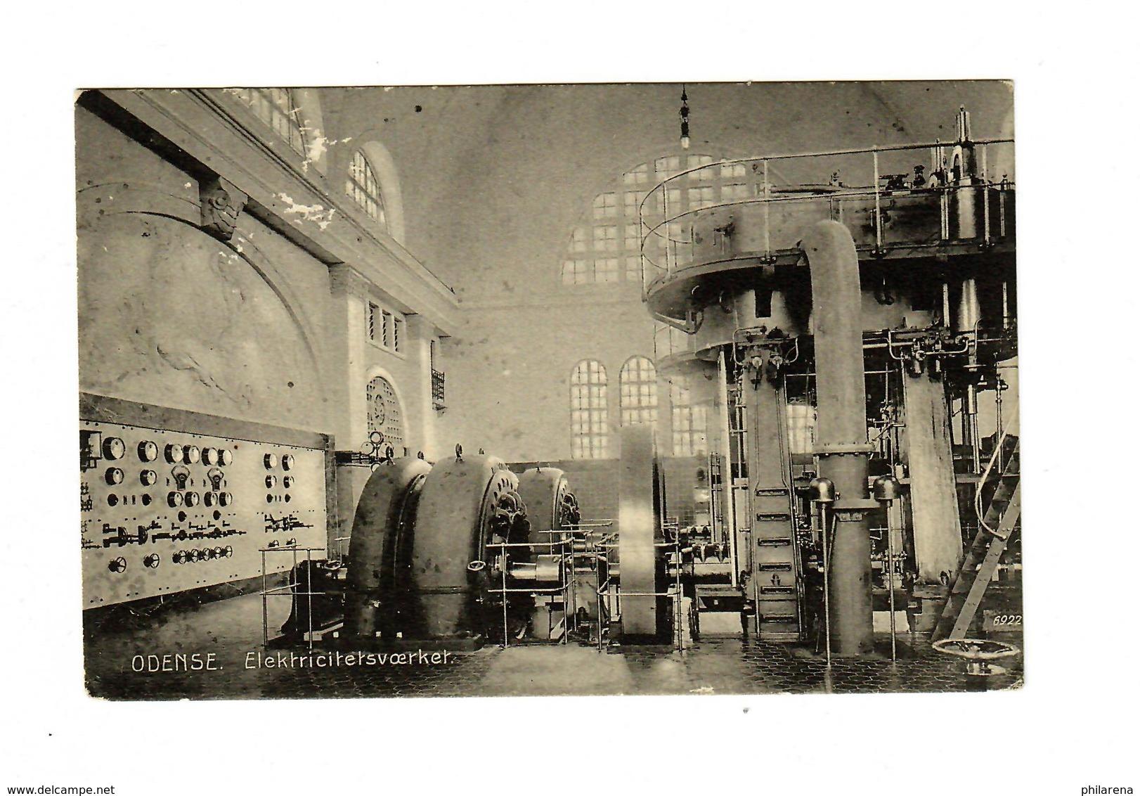 Postcard Odense - Electric Plant - Danemark