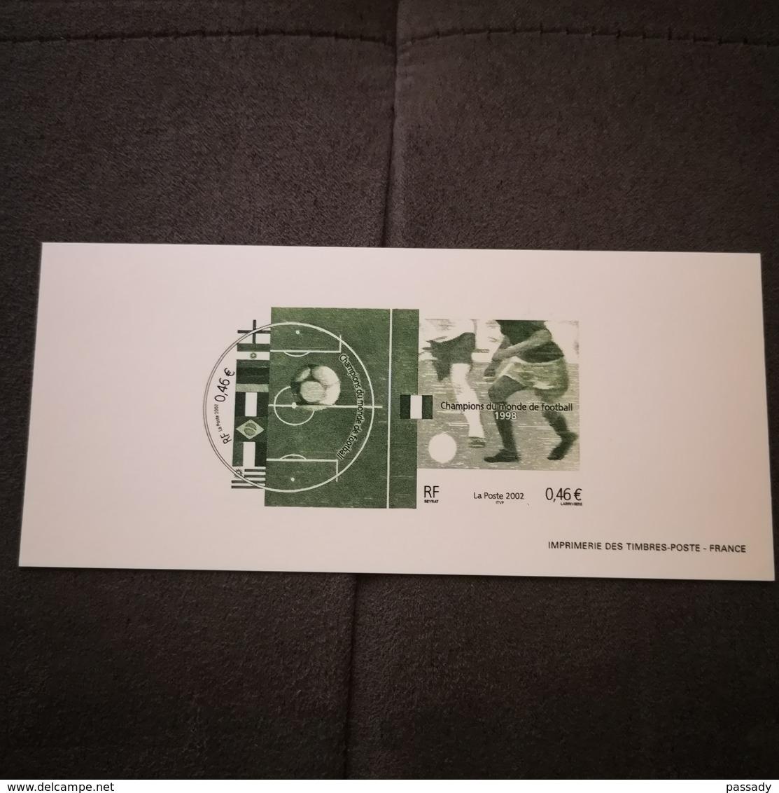 FRANCE FDC GRAVURE épreuve 1er Jour COUPE DU MONDE DE FOOTBALL Corée 2002 - Collection Timbre Poste - 2000-2009