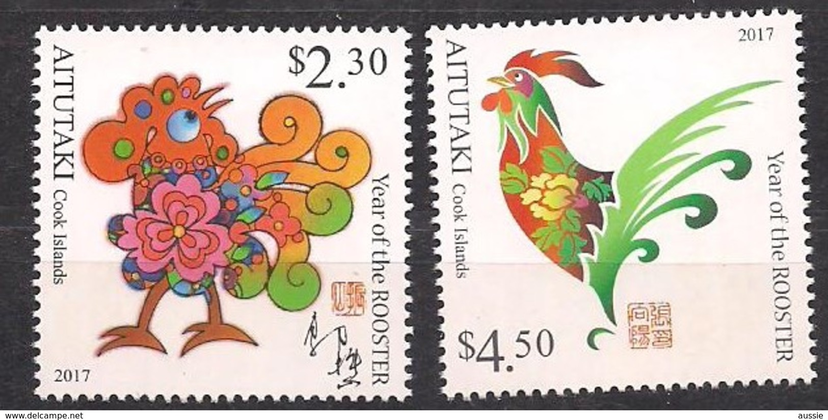 Aitutaki  2017  Année Du Cocq Year Of The Rooster *** MNH - Aitutaki
