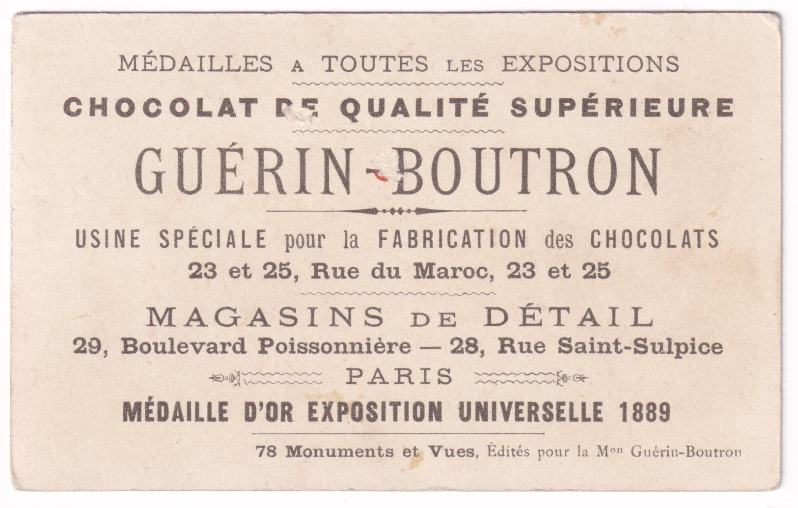 Chromo Guérin-Boutron Projets Exposition Universelle De Paris 1900 Seine Tour Eiffel Inde Trocadéro Canotage A32-63 - Guérin-Boutron
