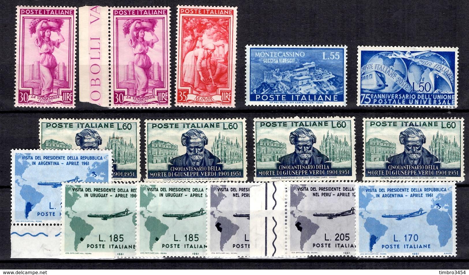 Italie Petite Collection Neufs ** MNH 1949/1961. Bonnes Valeurs. TB. A Saisir! - 6. 1946-.. Republic