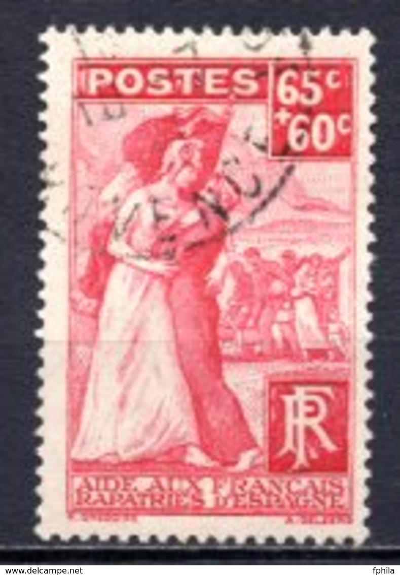 1938 FRANCE RETURN FROM SPAIN MICHEL: 432 USED - Gebraucht