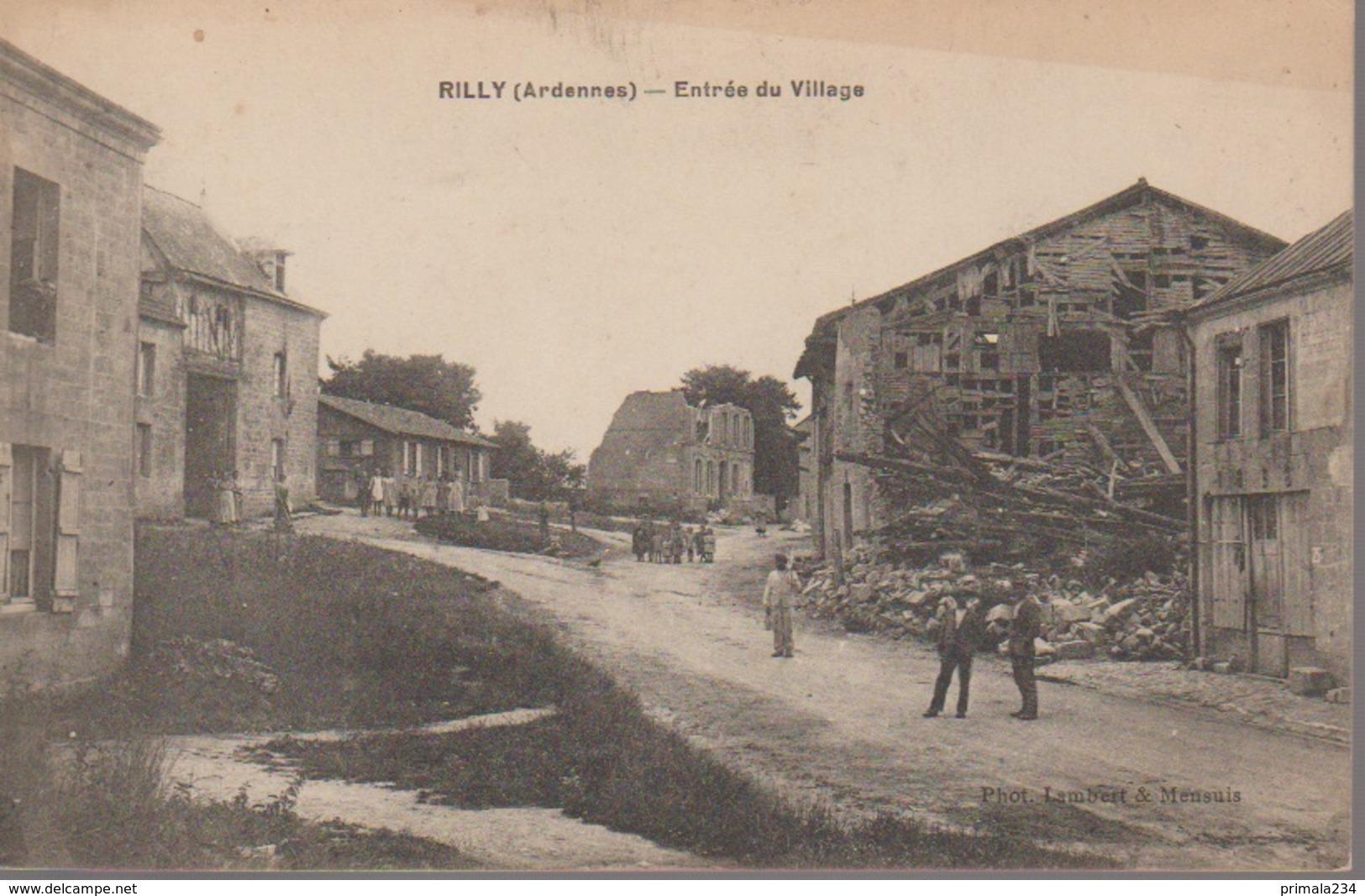 RILLY SUR AISNE -ENTREE DU VILLAGE - France
