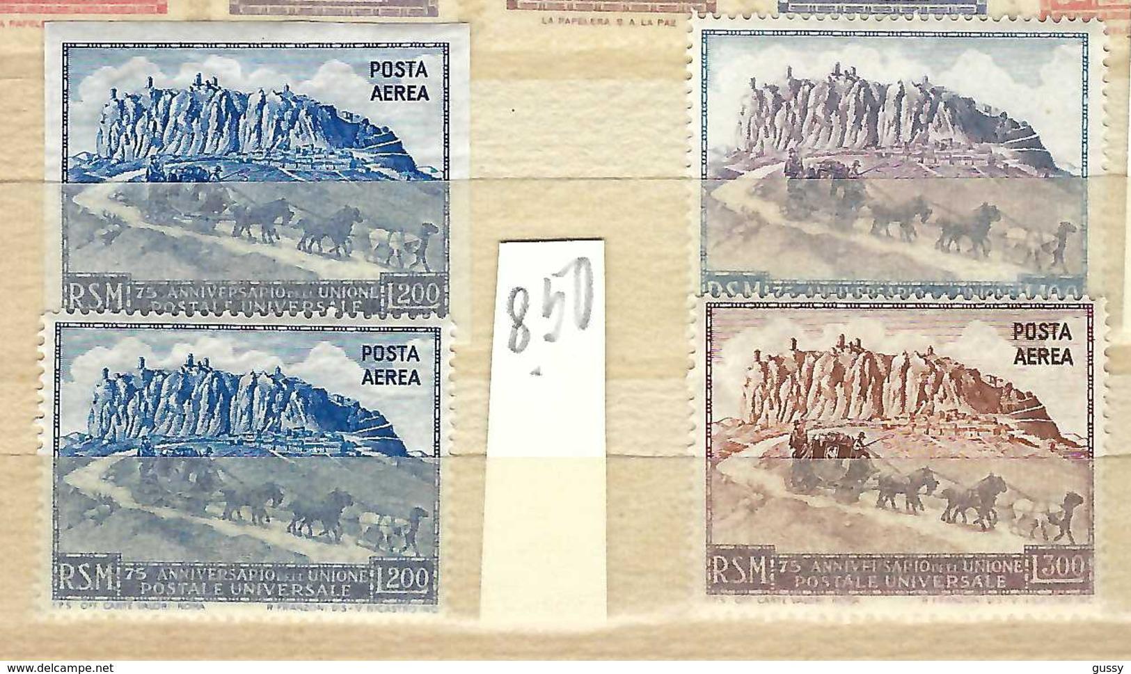 Union Postale Universelle (U.P.U.):  TP De San Marino, Neufs** - UPU (Wereldpostunie)