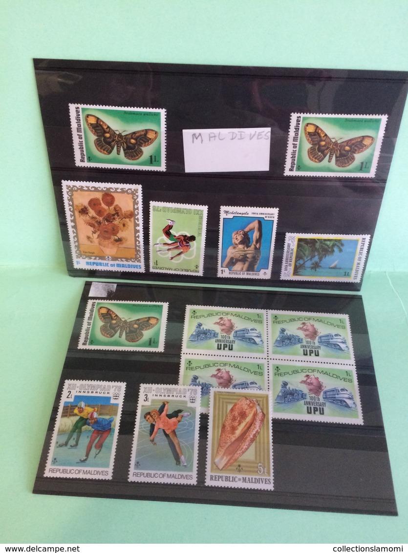 Lot Timbres Neufs, Monde Afrique,Amérique,Asie,Europe,Pays Voir Photos (n°10) - Collections (sans Albums)