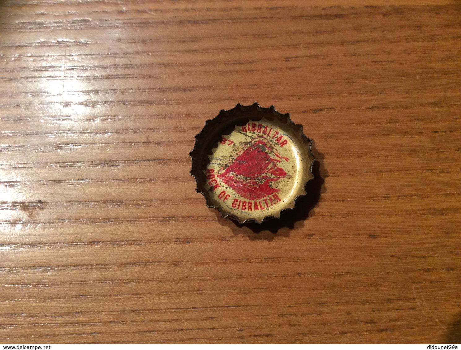 "Ancienne Capsule ""Coke N°37 -GIBRALTAR-ROCK OF GIBRALTAR""Etats-Unis (USA) Coca-Cola, Série Pays (Liège Enlevé) - Soda"