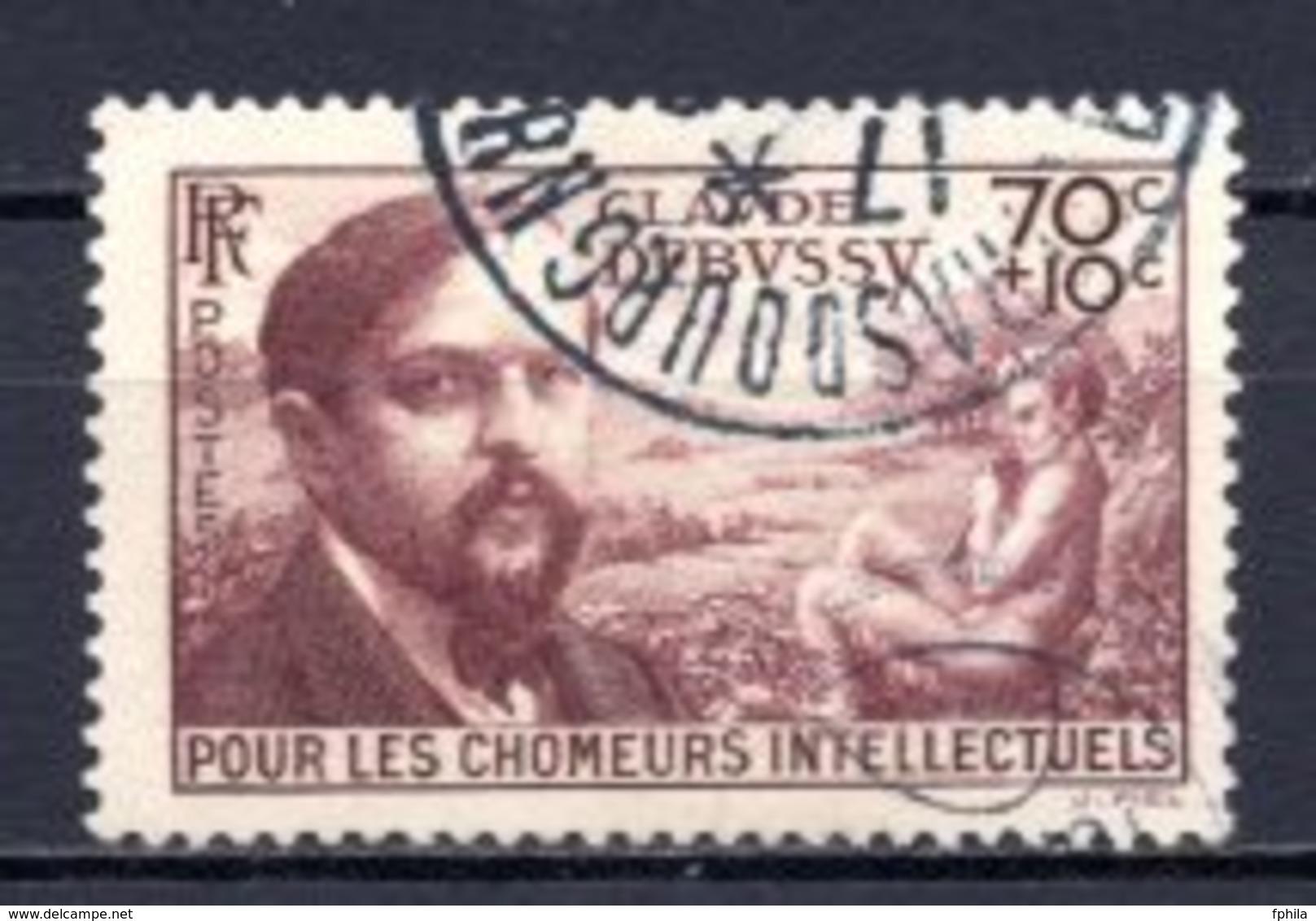 1939 FRANCE 70C.+10C. CLAUDE DEBUSSY MICHEL: 451 USED - Gebraucht