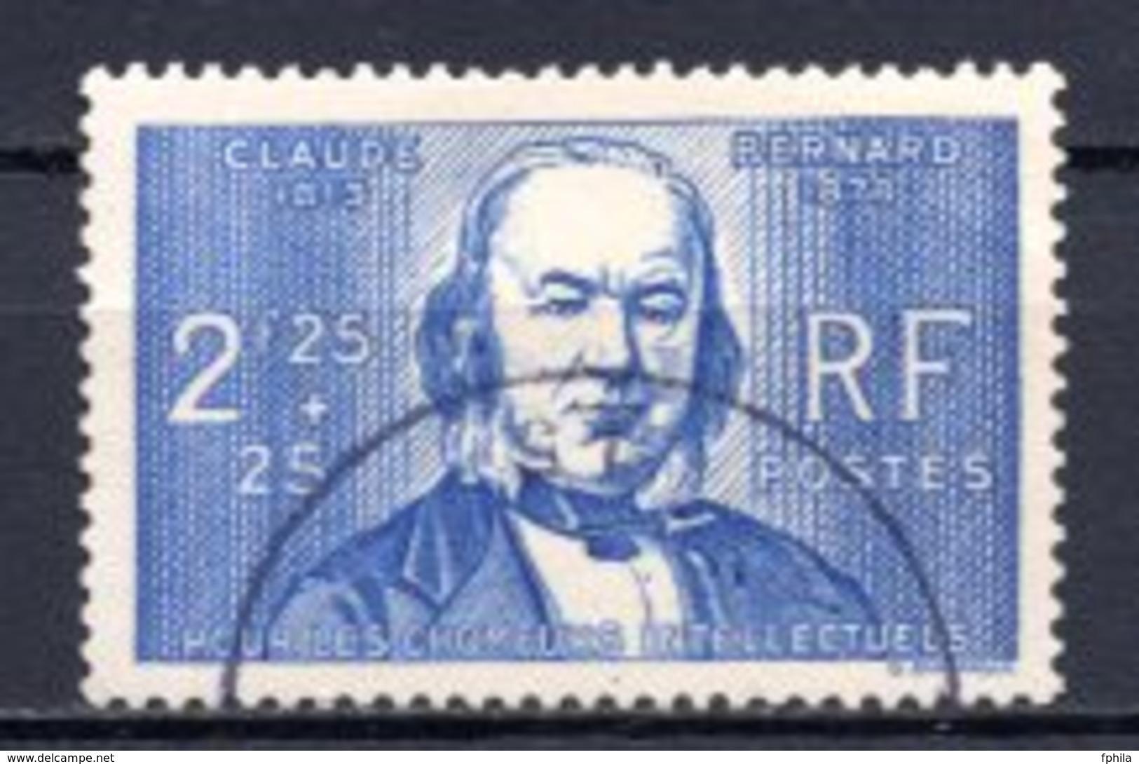 1939 FRANCE 2.25FR.+25C. CLAUDE BERNARD MICHEL: 453 USED - Gebraucht