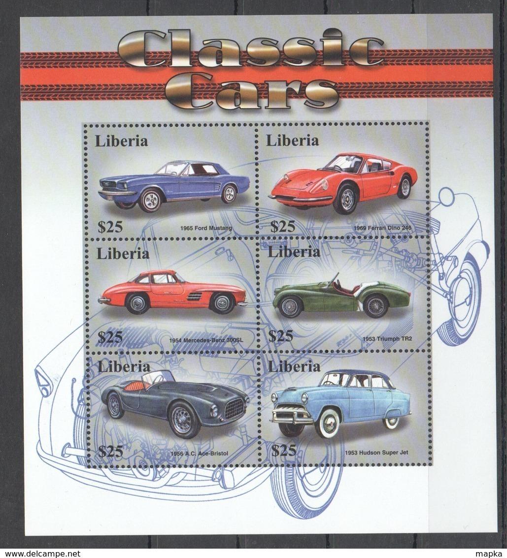 PK348 LIBERIA CLASSIC CARS 1KB MNH - Automobili