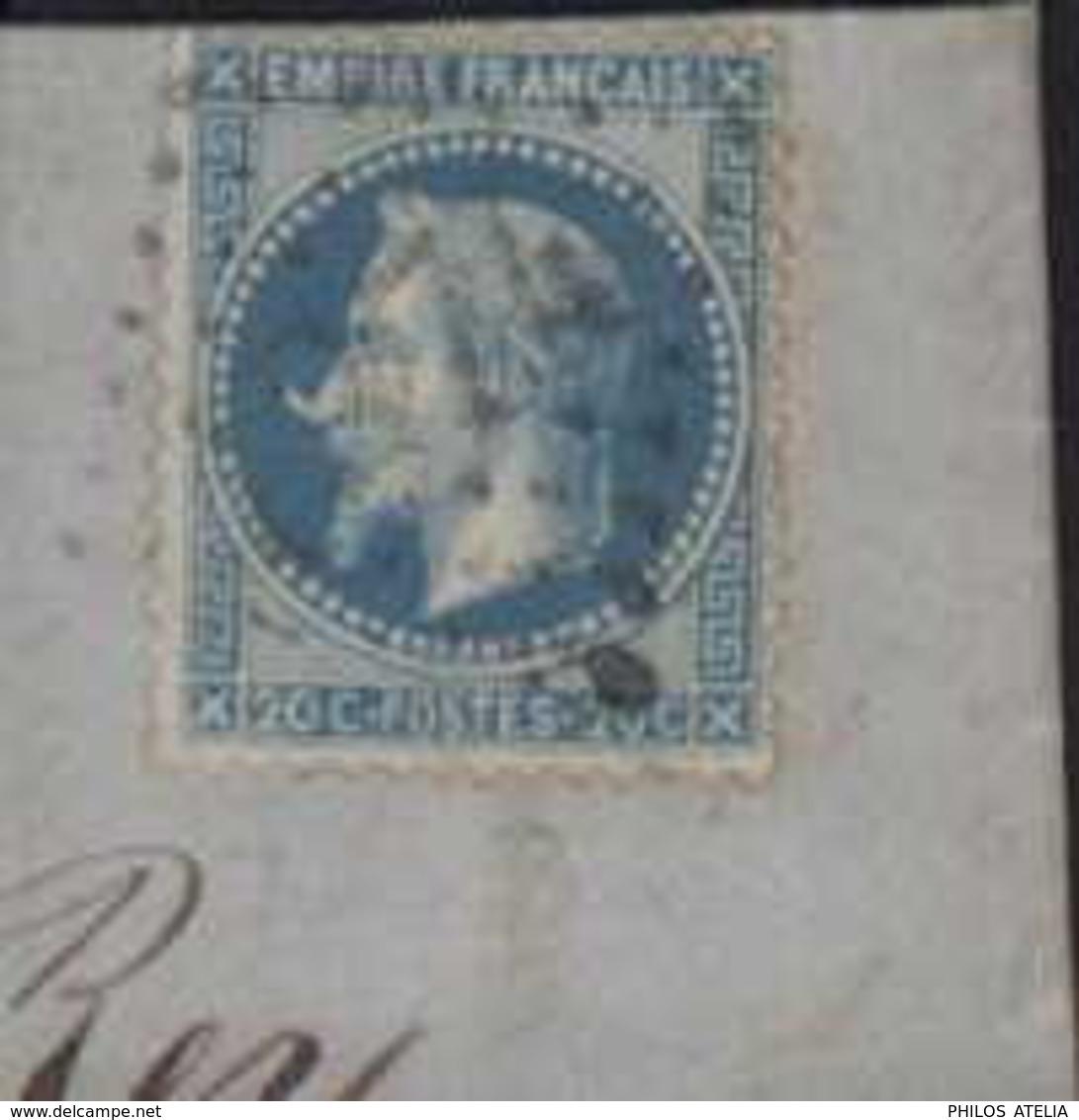 YT Empire Lauré TII Variété à La Corne GC + CAD T15 Les Echelles (88) 20 11 68 Lettre Pont De Beauvoisin BM Boite Mobile - 1849-1876: Klassik