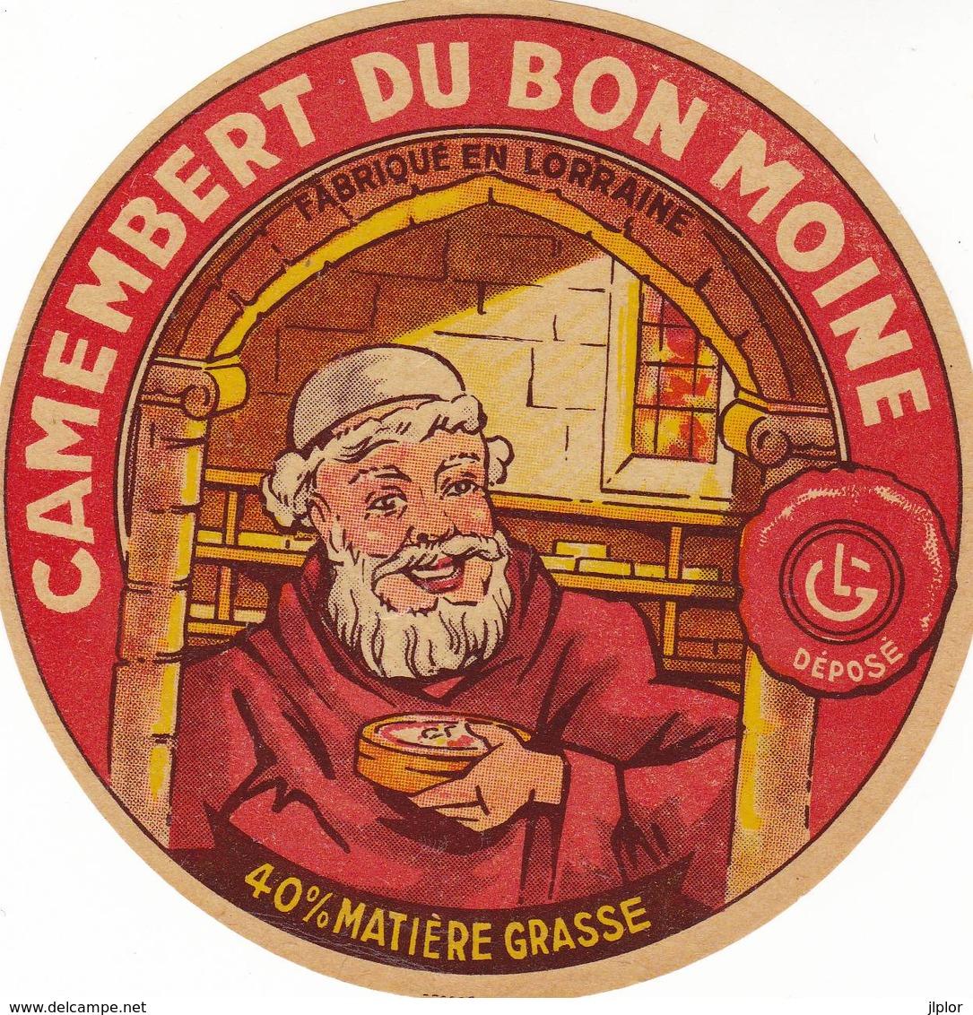 ETIQUETTE FROMAGE CAMEMBERT -  DU BON MOINE -  Fab En LORRAINE - Formaggio