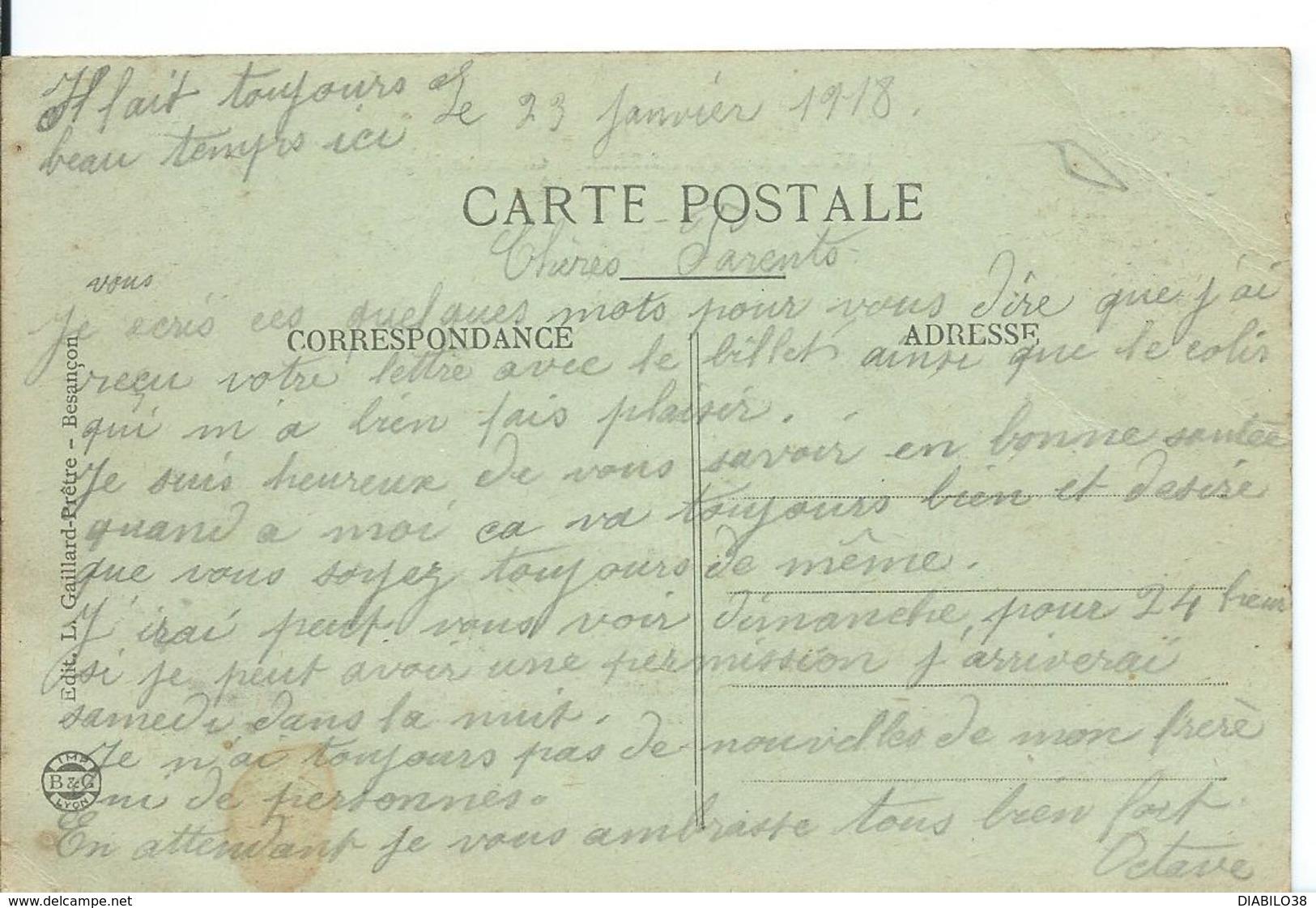 PONTARLIER (DOUBS ) GRANDE RUE - Pontarlier