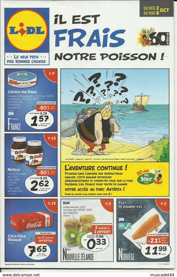 MAGAZINE PUBLICITAIRE LIDL THEME ASTERIX ET OBELIX - Publicités