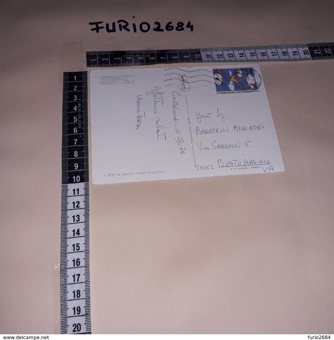 C-86506 CASTELSARDO SCOGLIERE E TORRE DI FRIGIANU E IL PORTO PANORAMA - Italië
