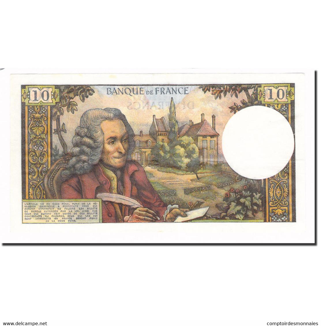 France, 10 Francs, Voltaire, 1968, 1968-04-04, SPL, Fayette:62.32, KM:147c - 1962-1997 ''Francs''