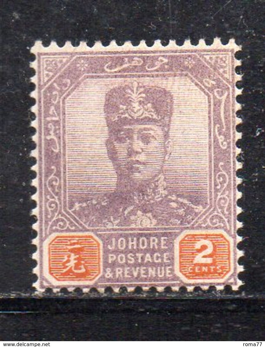 XP5022 - JOHORE MALAYSIA 1904 , Yvert N. 44  *  Linguella (2380A) - Johore