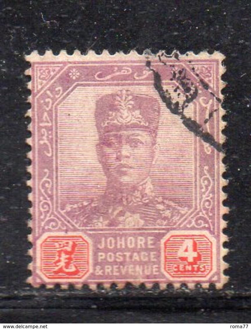 XP5027 - JOHORE MALAYSIA 1904 , Yvert N. 46  Usato (2380A) - Johore
