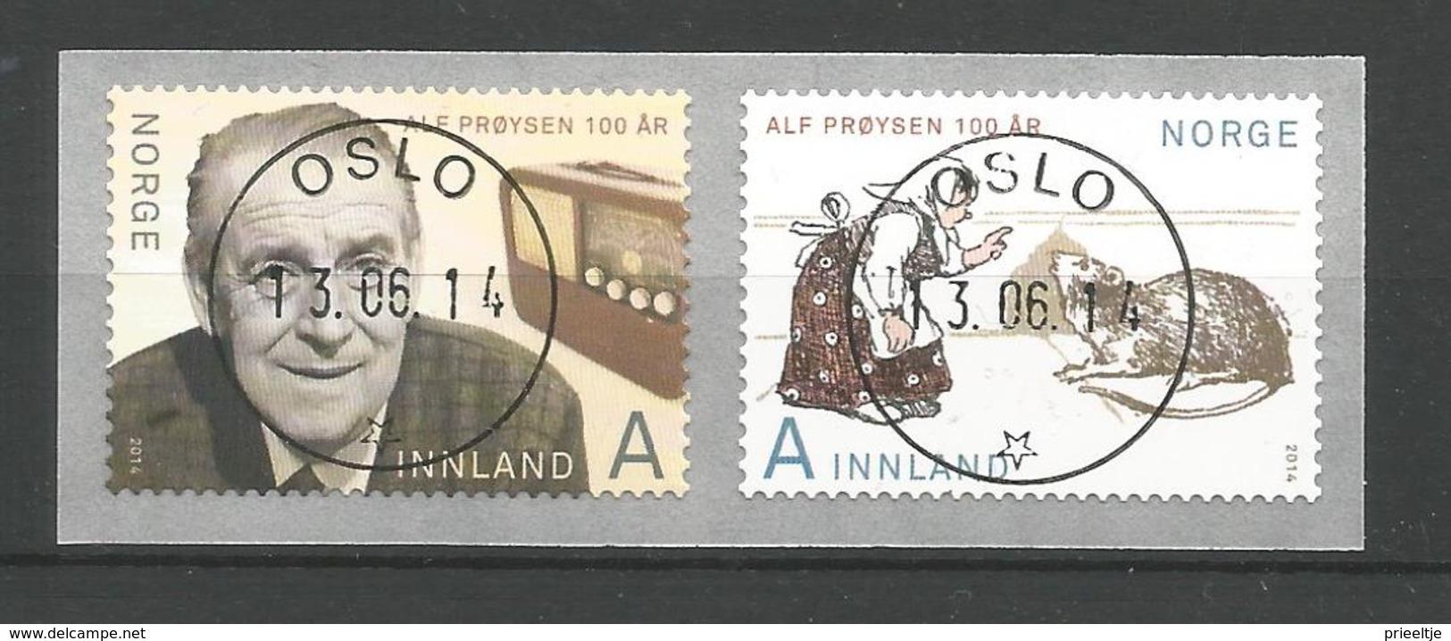 Norway 2014 Alf Proyson Centenary Central Cancel  Y.T. 1806/1807 (0) - Noorwegen