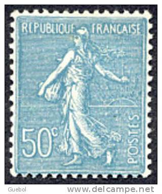 France Semeuse De Roty N°  362 ** Lignée Le 50c Turquoise - 1903-60 Sower - Ligned