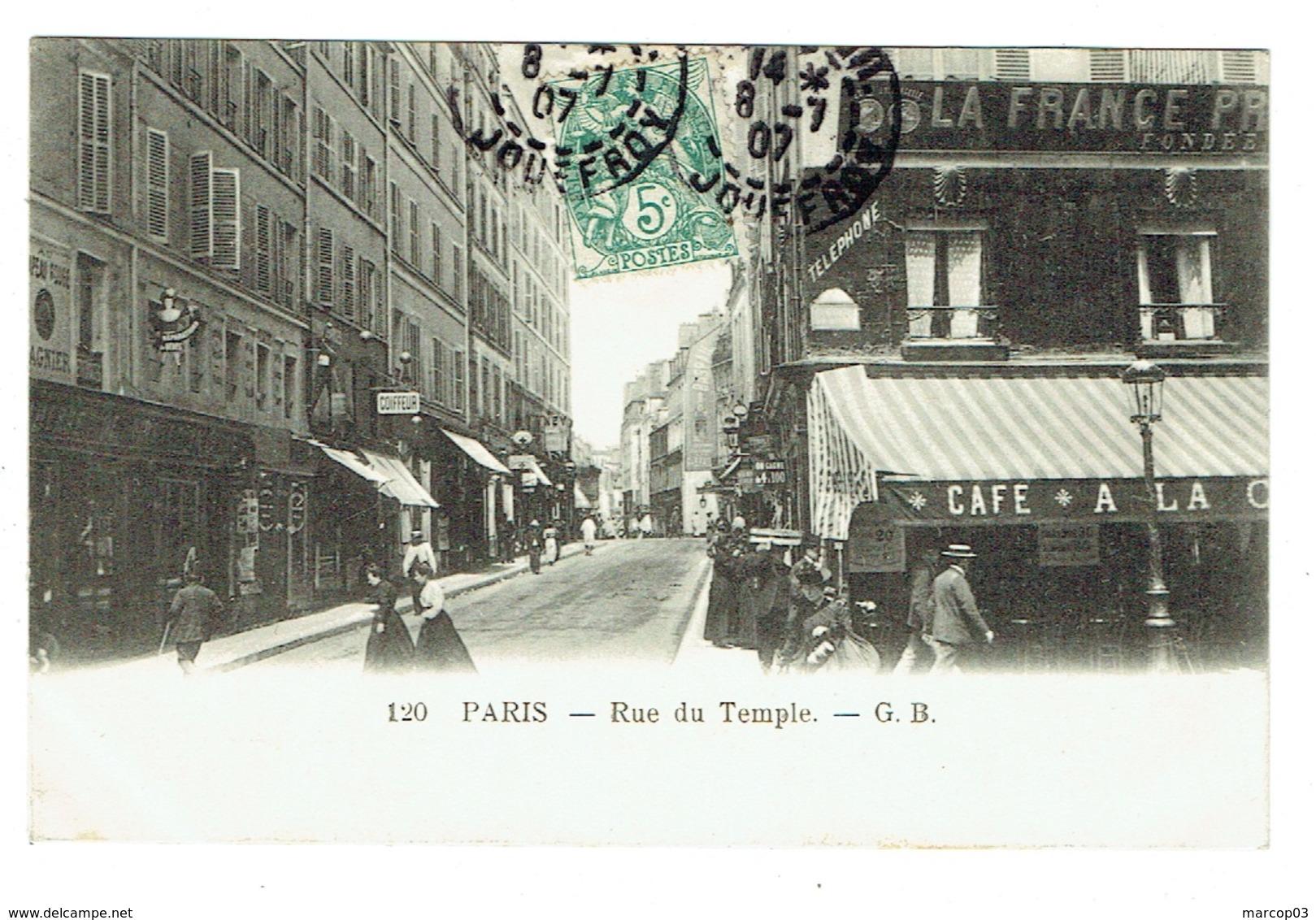 75 PARIS Rue Du Temple Plan Rare - Arrondissement: 03