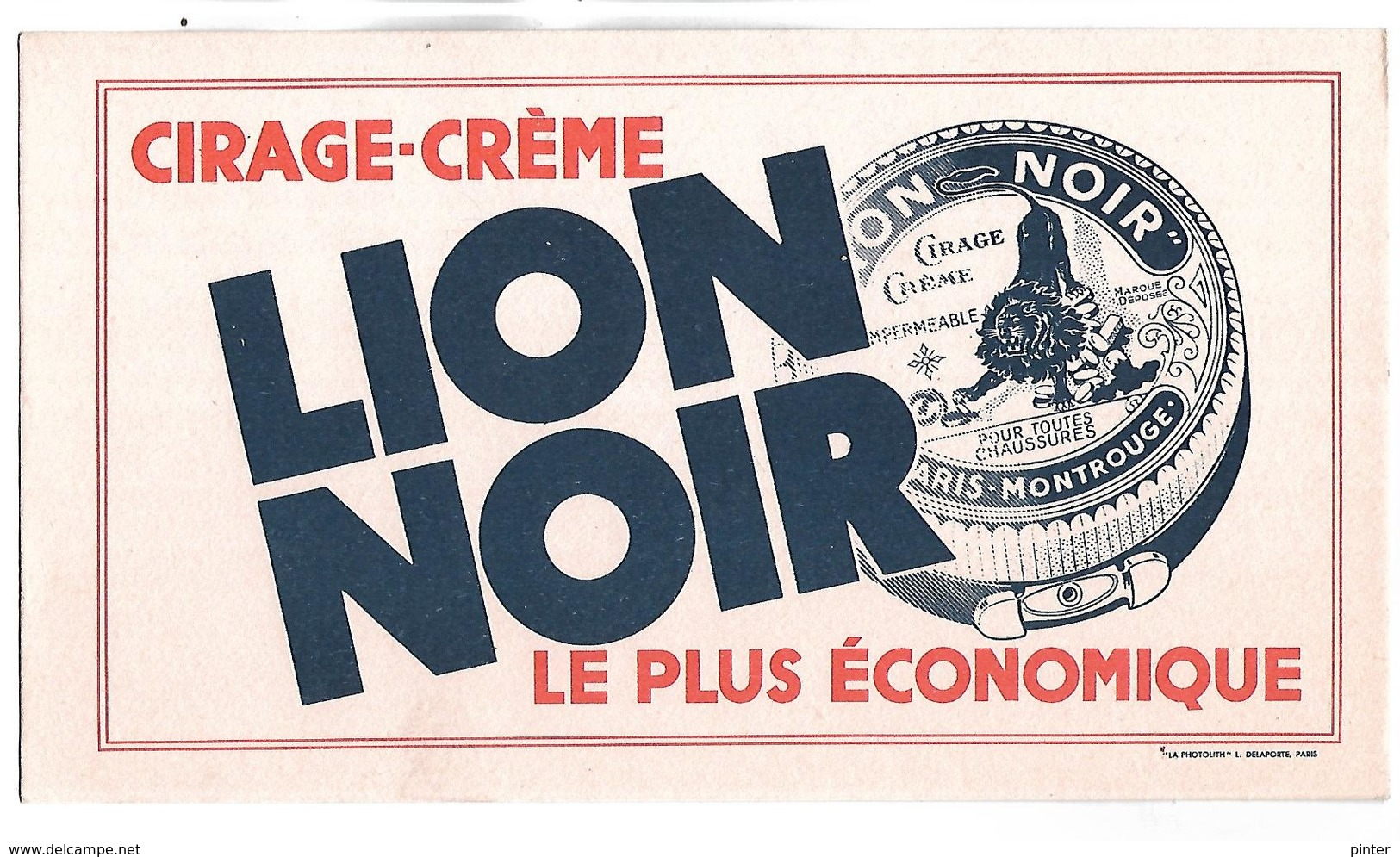 BUVARD - Cirage-crème LION NOIR - Chaussures