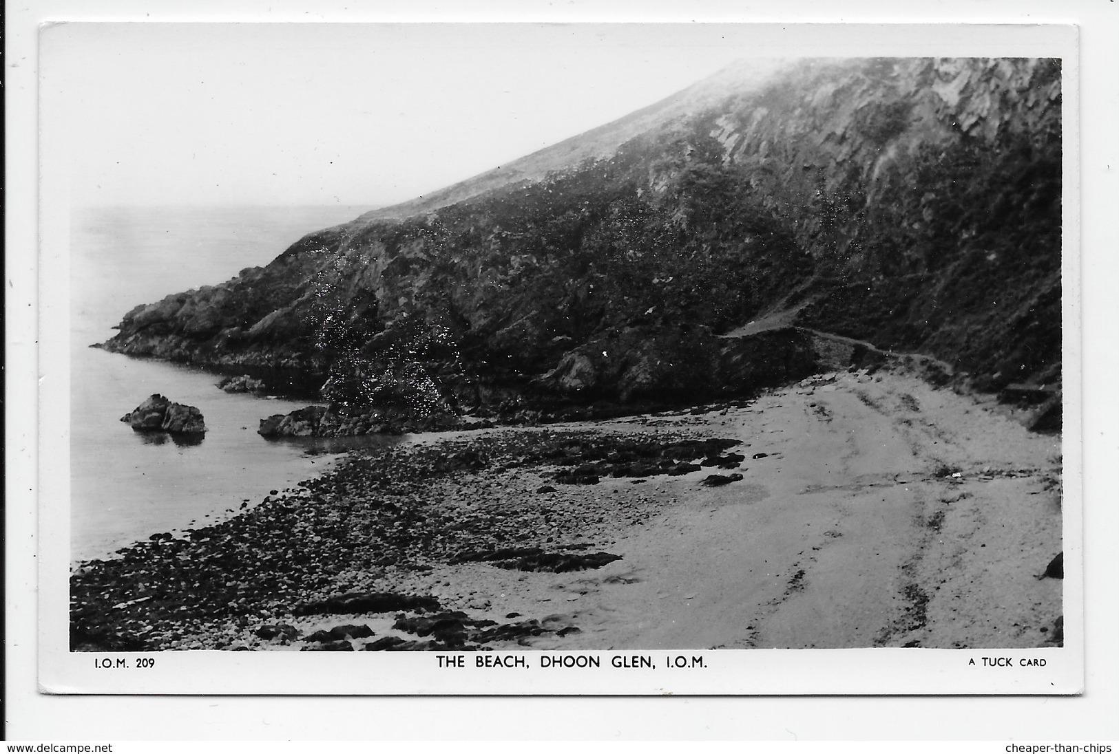 The Beach, Dhoon Glen. - Tuck I.O.M. 209 - Isle Of Man