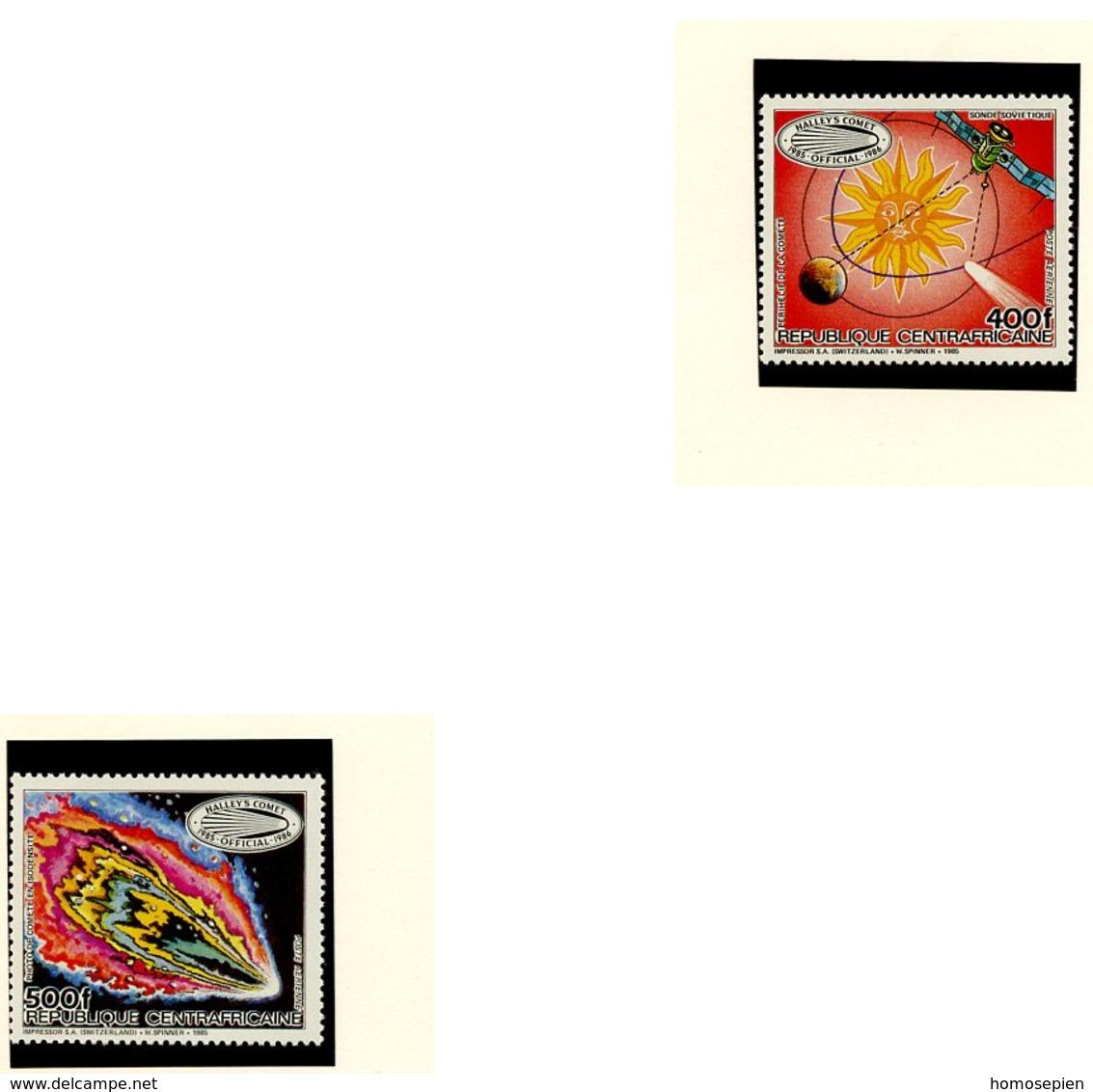 Centrafrique - Zentralafrikanische Poste Aérienne 1985 Y&T N°PA336 à 337 - Michel N°1191 à 1192  *** - Comète De Halley - Centrafricaine (République)
