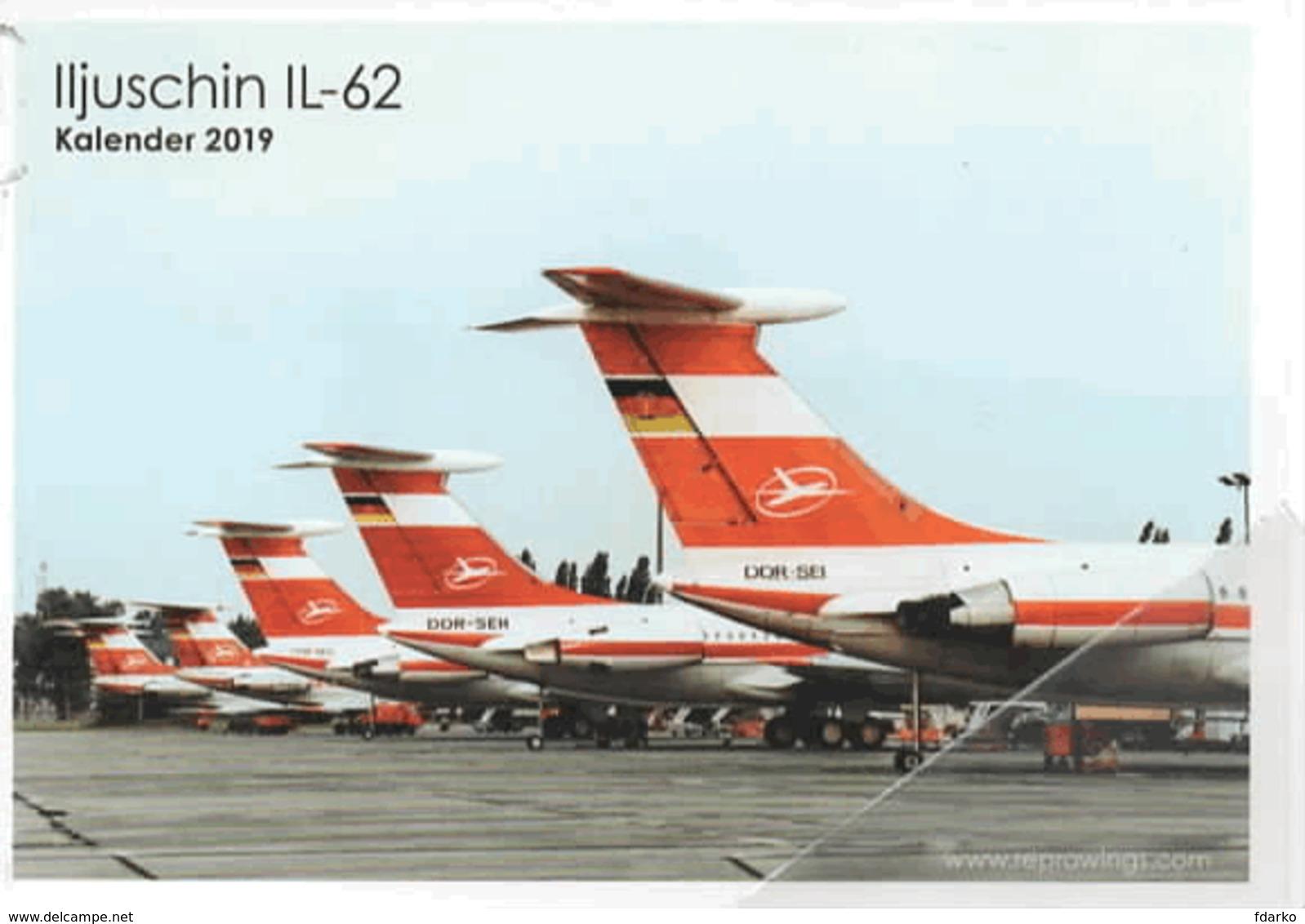 Aerei Iljushin IL-62 Ilyushin Interflug Issue Avion Airplane - Ambulanti