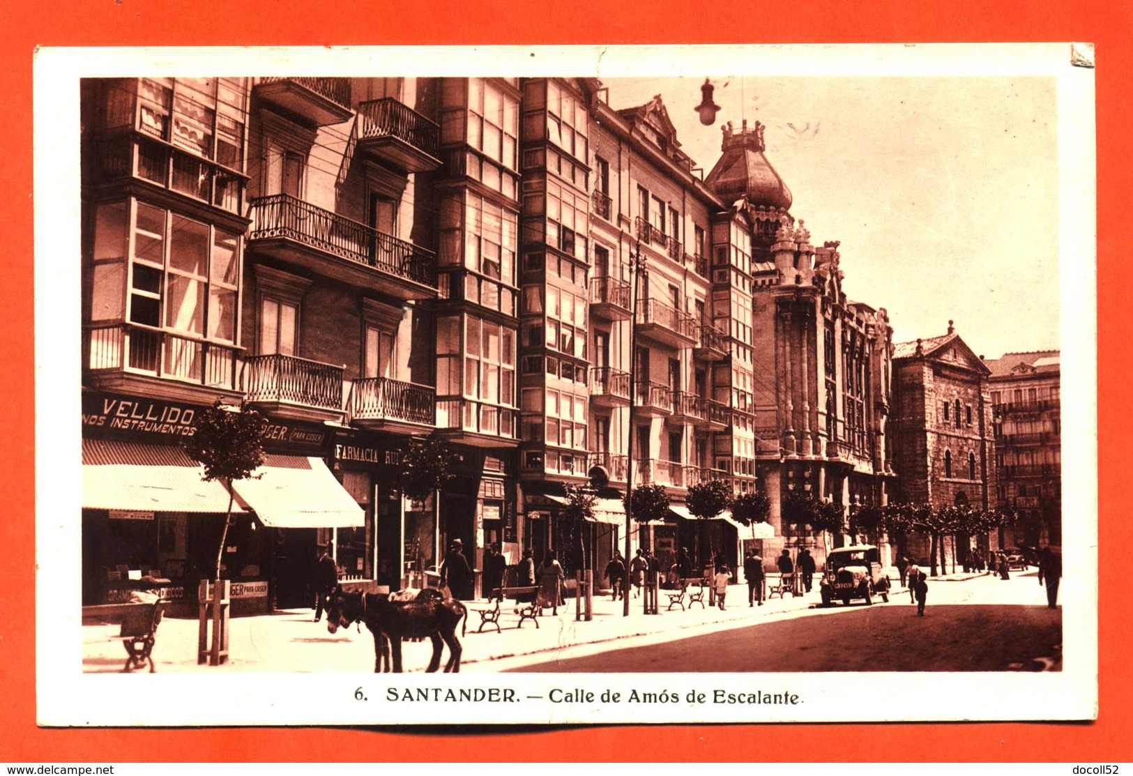 """CPA Santander """" Calle De Amos De Escalante """" - Spagna"""