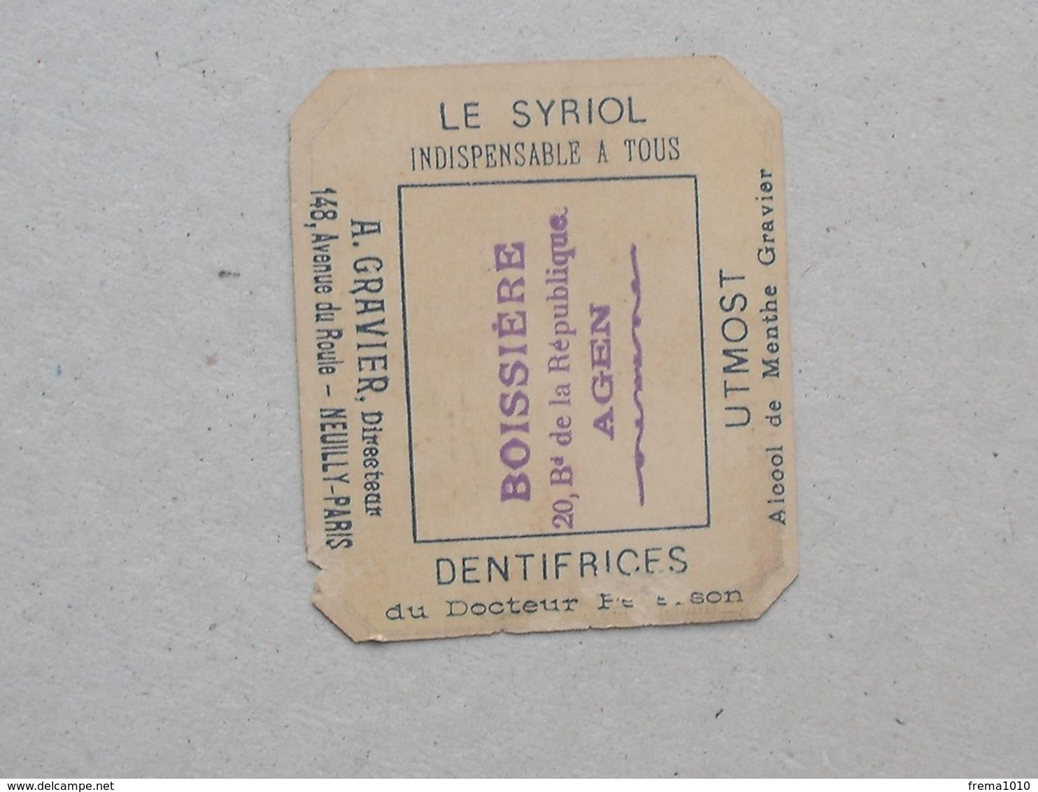AGEN  CHROMO Dentifrice Docteur PETERSON: AVOCAT Plaidoyer Cour - BOISSIERE GRAVIER NEUILLY PARIS - PELLETIER - Chromos