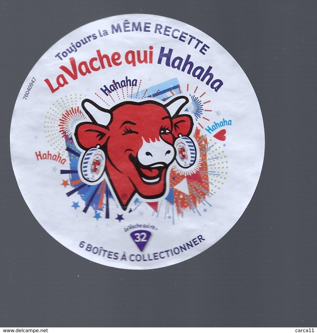 LA VACHE QUI RIT - Etiquette N° 76040947 - La Vache Qui Hahaha - - Quesos