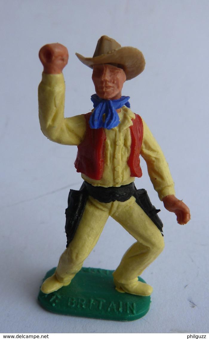 FIGURINE TIMPO TOYS COWBOY 2ème Série  Frappe Avec Un Fusil Manque LE FUSIL  - PAS BRITAINS - Leger