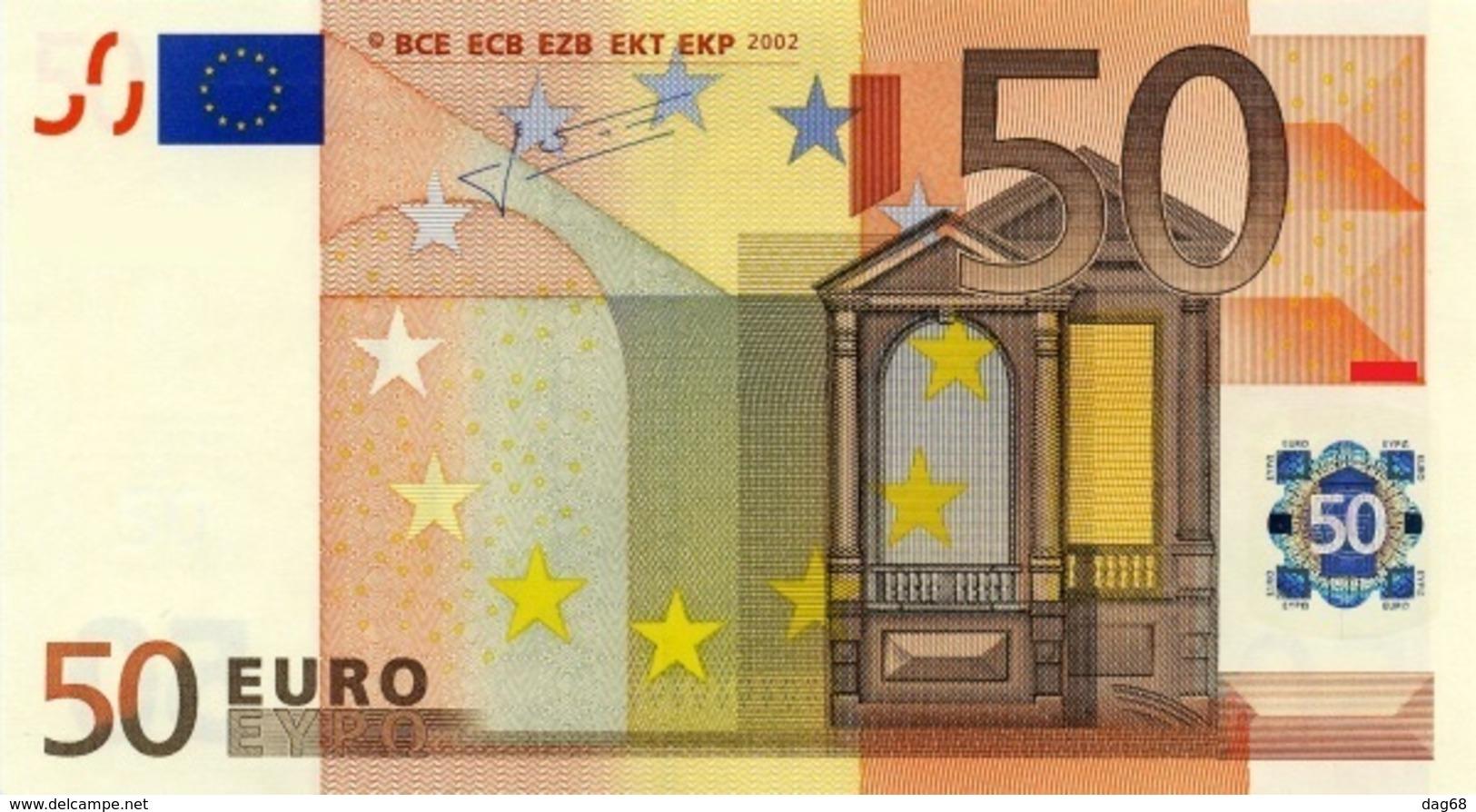 EURO SPAIN 50 V M044 M045 UNC TRICHET JUST ONE CODE - 50 Euro