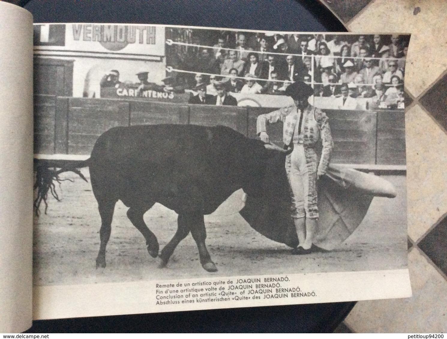 PROGRAMME FIESTA NACIONAL ESPANOLA  Toros Taureaux The Bul-Fight  JAIME ROSELL  Annees 1950 - Programmes