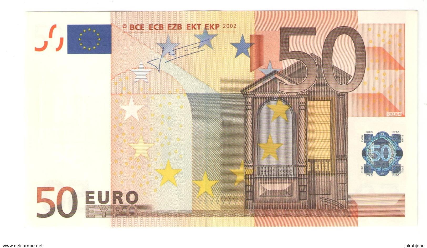 "50 EURO ""X"" R023B4 AU/UNC - EURO"