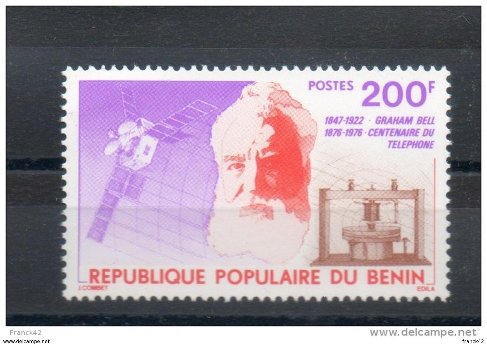 Benin. Graham Bell. Centenaire Du Téléphone - Bénin – Dahomey (1960-...)