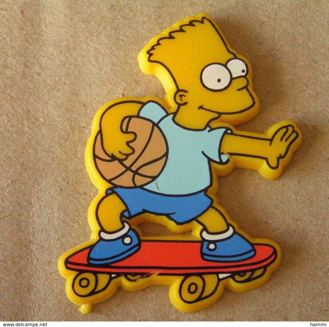 E132 Pin's BD SIMPSON Bart Skate Skateboard Basket Achat Immédiat - Skateboard