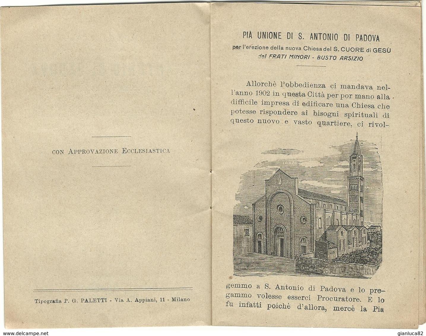 Libretto Breve Vita S. Antonio Di Padova Pia Lega Riparatrice S. Cuore Gesù Busto Arsizio (71) Come Da Foto  14,5 X 9,6 - Libri, Riviste, Fumetti