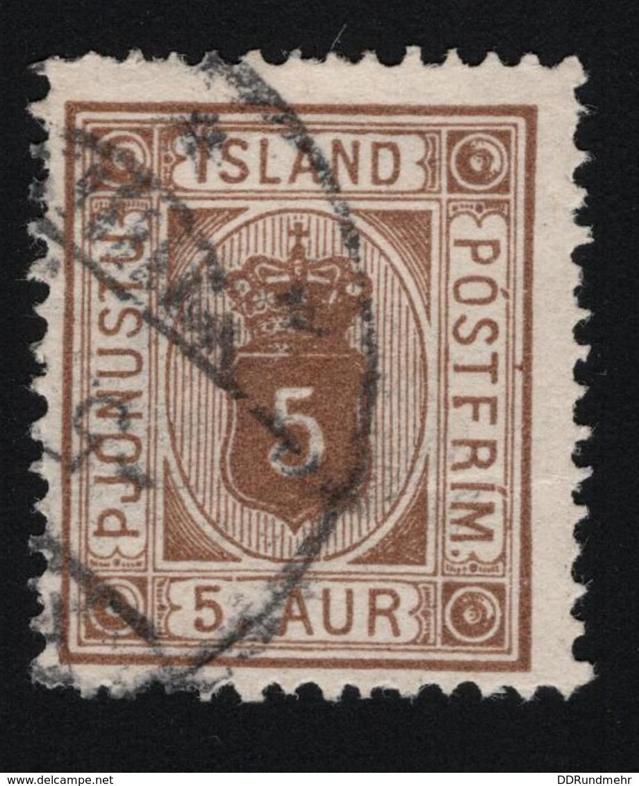 1878 Mi IS D4A Sn IS O5 Yt IS S5A  Sg IS O21b AFA IS T4 Dienstmarke  Postage - 1873-1918 Dänische Abhängigkeit