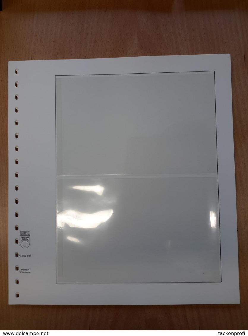 LINDNER T-Blanko 10 Blatt 802204 Mit 2 Streifen 119/120 Mm Gebraucht (Z2055) - Vierges
