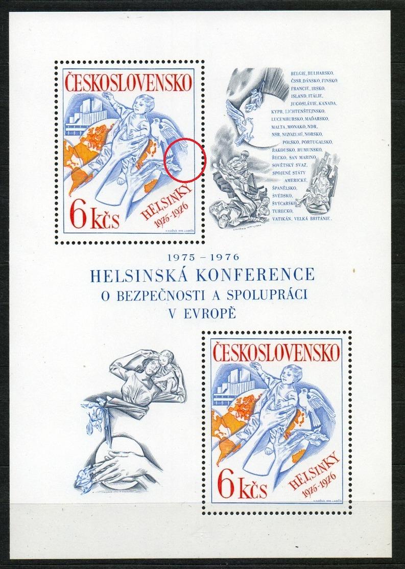 1976 Czechoslovakia MNH - Mi 2335 Block 33 ** MNH • Production Flaw • Défaut De Fabrication • - Abarten Und Kuriositäten