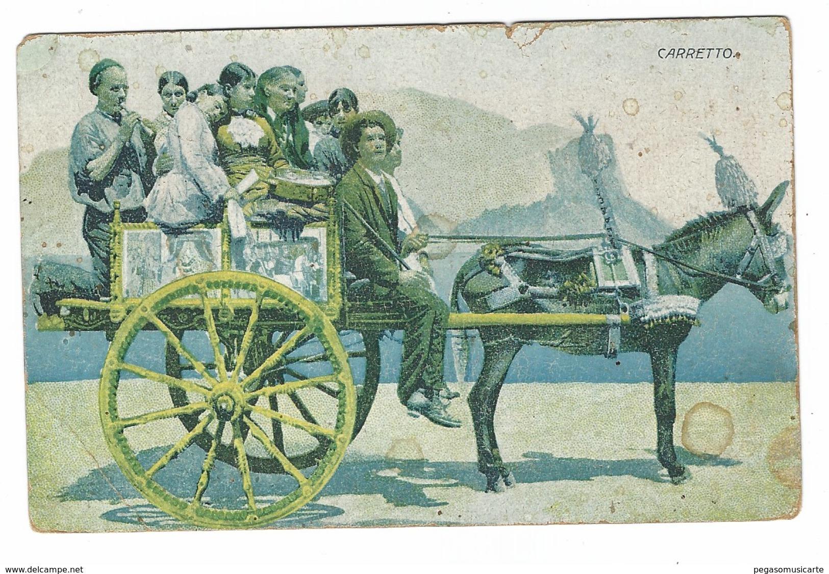 3740 - SICILIA CARRETTO SICILIANO ANIMATA 1900 CIRCA BAMBINI - Other Cities