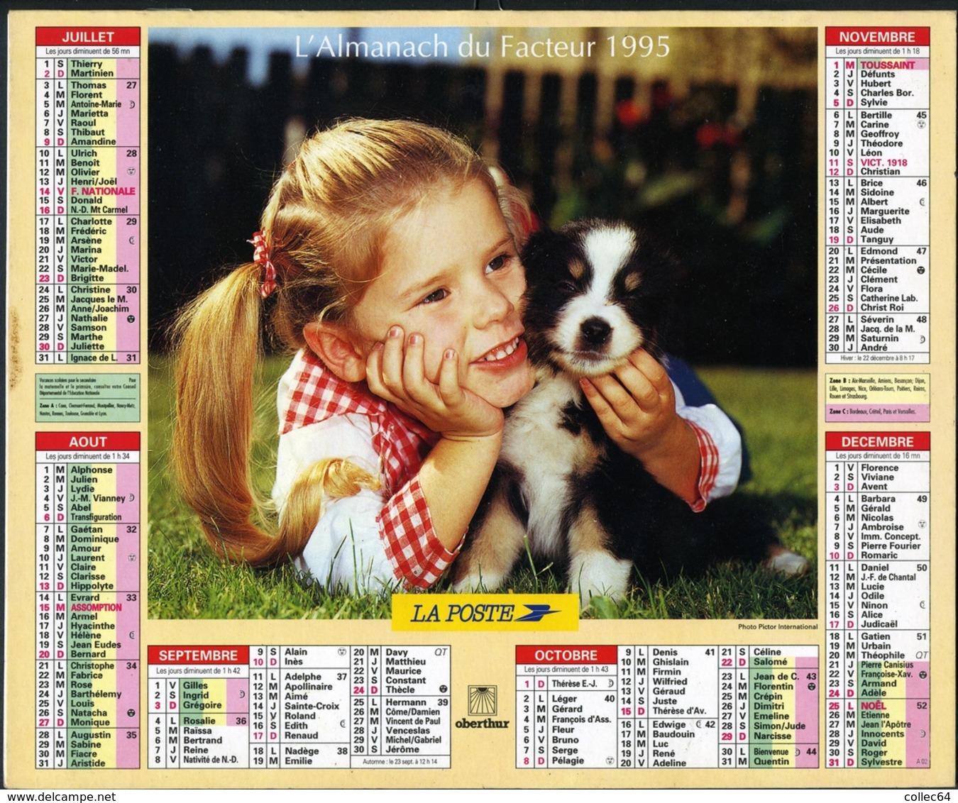 Almanach De La Poste 1995 -  Gironde (33) - Calendriers