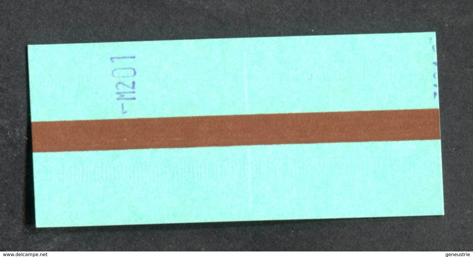 """Ticket De Métro Parisien """"Station Anvers (1992 à 2003) 2ème Classe) RATP - Métropolitain De Paris - Europe"""