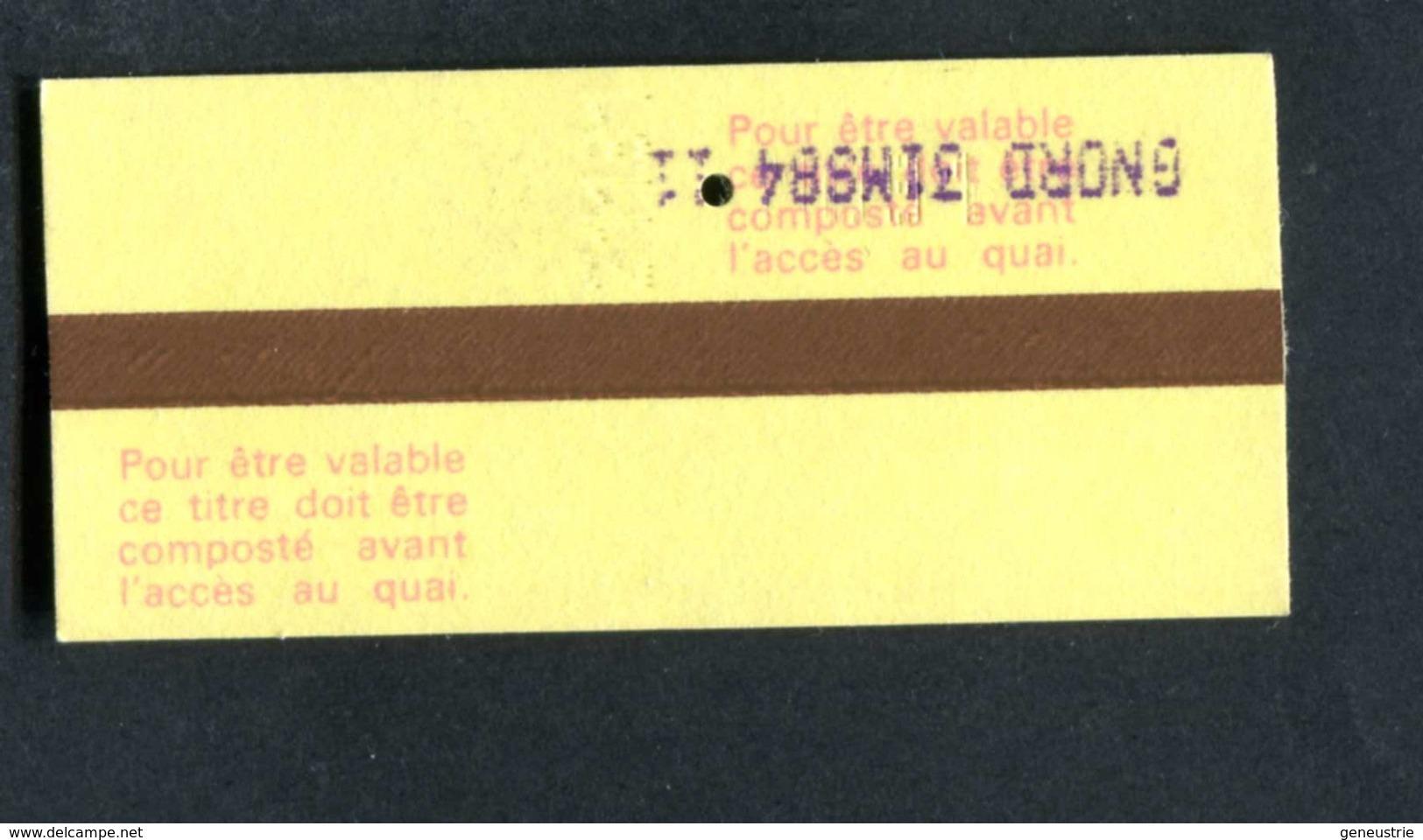 """Ticket De Train Années 80 """"Paris Gare Du Nord -> Pontoise - Tarif Pour Militaire"""" - Chemins De Fer"""